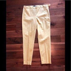 Talbots yellow Chatham pants 12